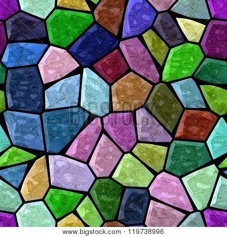 Full Color Marble Irregular Plastic Stony Mosaic Seamless Pattern Texture Background