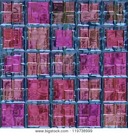 Glass Pink Blue Plastic Mosaic Seamless Pattern Texture