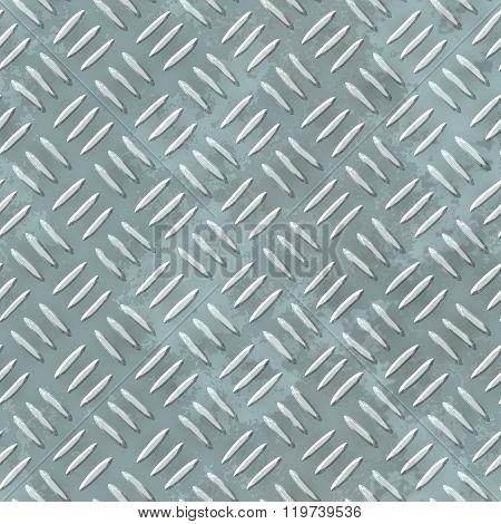 Gray Silver Metal Sheet Seamless Pattern Texture Diamond Plate