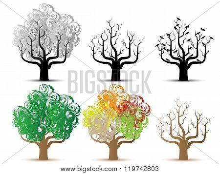 Tree Helloween And Season Series