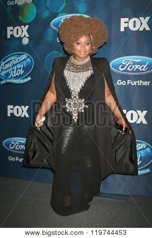 LOS ANGELES - FEB 25:  La'Porsha Renae at the American Idol Farewell Season Finalists Party at the London Hotel on February 25, 2016 in West Hollywood, CA