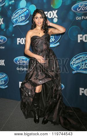 LOS ANGELES - FEB 25:  Sonika Vaid at the American Idol Farewell Season Finalists Party at the London Hotel on February 25, 2016 in West Hollywood, CA