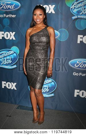 LOS ANGELES - FEB 25:  Gabrielle Dennis at the American Idol Farewell Season Finalists Party at the London Hotel on February 25, 2016 in West Hollywood, CA