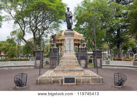 Monument to Simon Bolivar in San Jose, Costa Rica