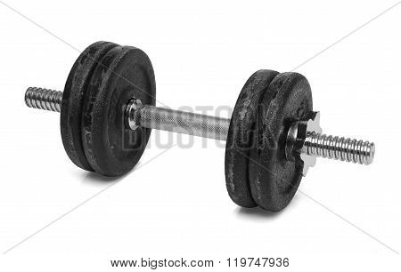 Dumbbell isolated over white