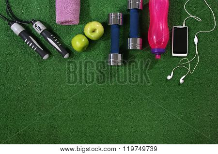 Fitness concept. Various elements