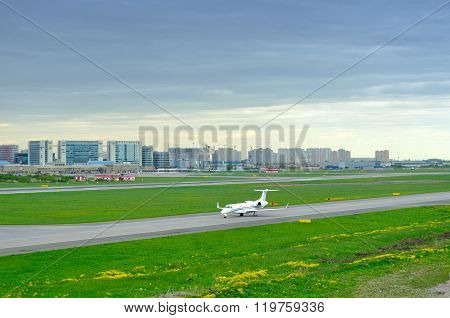 Fortaero Baltic Airline Hawker Beechcraft 400Xp Aircraft In Pulkovo International Airport