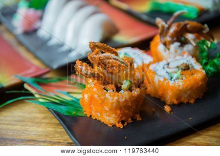 Fried Soft Shell Crab Sushi