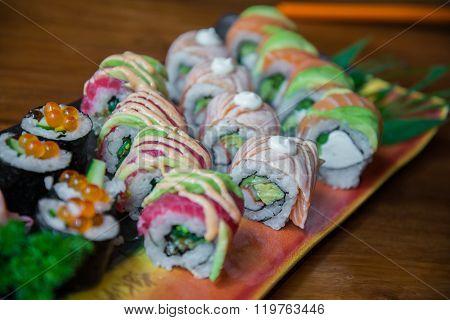 Japanese Style Roll Sushi