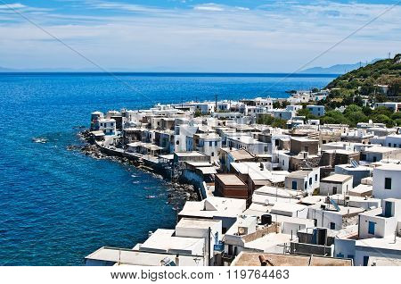 View Of Mandraki Village On Nisyros Island