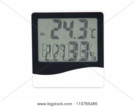 Electronic Clock, Calendar, Thermometer And Hygrometer