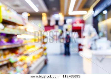 Blurred Convenience Store