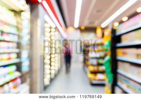 Blurred Convenience Store