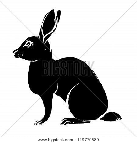 Bunny Black Silhouette