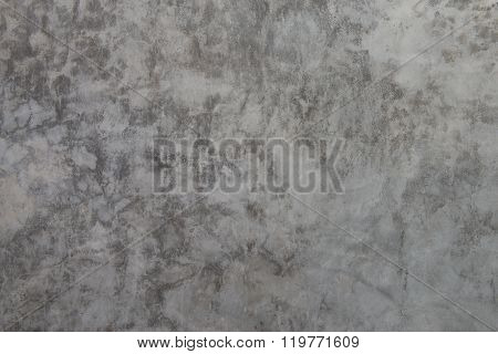 background and texture on finishing wall in vintage style gray color of Polished concrete surface