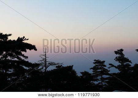 Huashan Mountain At Sunset, Xian, China