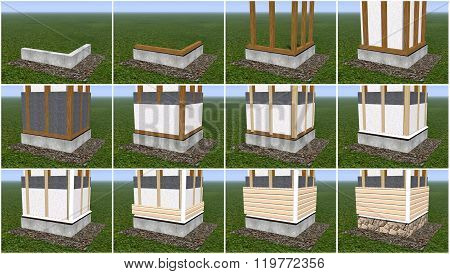 Installation Of Siding Panels.
