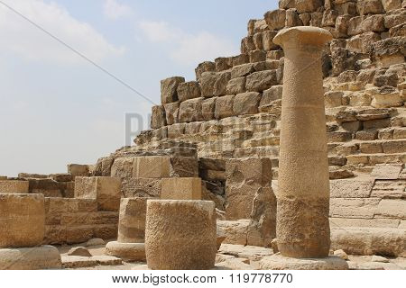 Ruins Near The Pyramids Of Giza. Egypt