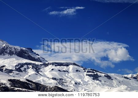 Snowy Rocks At Nice Sun Day