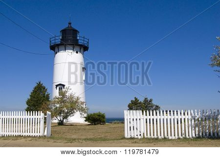 White Picket Fence By Lighthouse