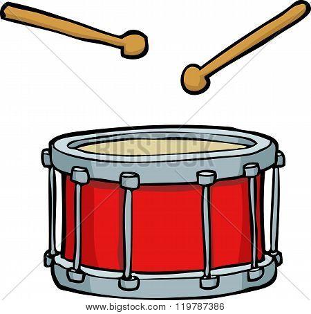 Cartoon Red Drum