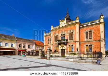 Old town in Novi Sad - Serbia - architecture travel background poster