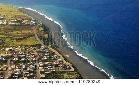 Waves And Black Sand Beach