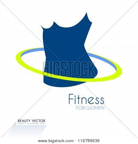 Business sign for for fitness club or weight loss program