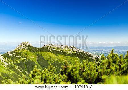 Inspiring Mountains Landscape View, Summer In Tatras