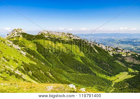 Inspiring Mountains Landscape, Sunny Day In Summer Tatras