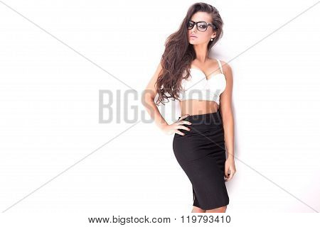 Sexy Brunette Woman Posing.