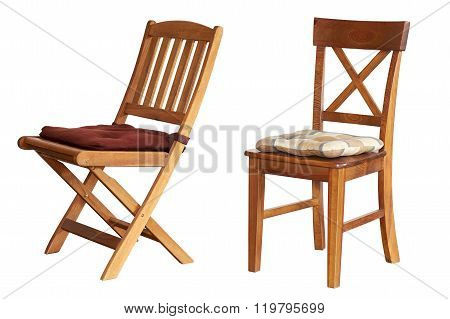 Chair Isolated On White Background.