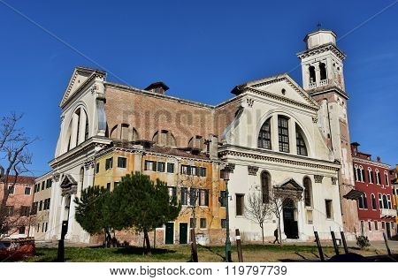 San Trovaso Church In Venice, With Its Two Facades