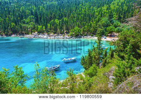 Fishing boat in Kefalonia island, Greece
