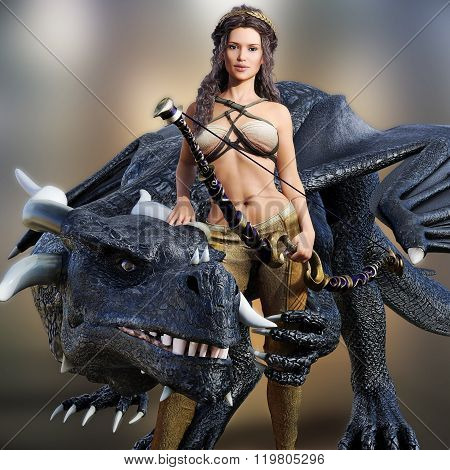 Hunter queen and her dragon