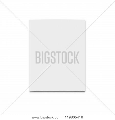 Realistic blank card for design. Template greeting cards  presentations