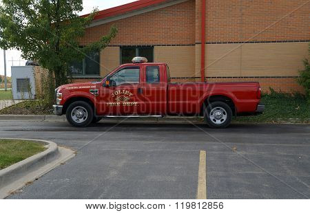Joliet Fire Department Pickup Truck