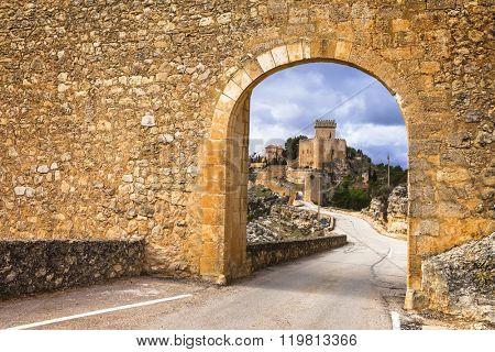 impressive medieval Alarcon castle in Spain