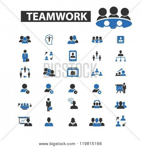 teamwork icons, teamwork logo, teamwork vector, teamwork flat illustration concept, teamwork infographics, teamwork symbols,