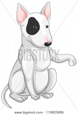 Little dog with happy face illustration