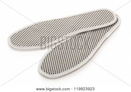 White Tourmaline Insoles With Black Pimples