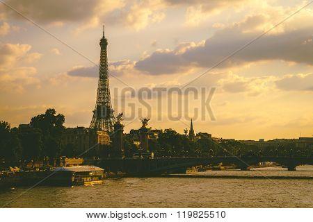 Eiffel Tower Beside River