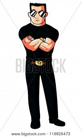 Bodyguard Editable .Eps 10 Vector Illustration Design poster