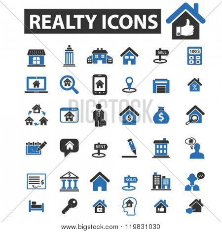 realty icons, realty logo, realty vector, realty flat illustration concept, realty infographics, realty symbols,
