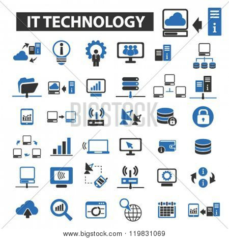 it technology icons, it technology logo, it technology vector, it technology flat illustration concept, it technology infographics, it technology symbols,