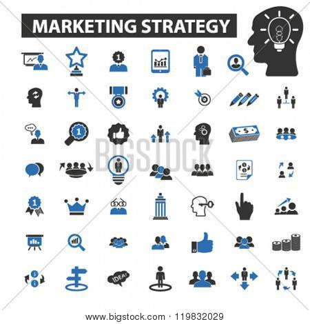 marketing strategy icons, marketing strategy logo, marketing strategy vector, marketing strategy flat illustration concept, marketing strategy infographics, marketing strategy symbols,