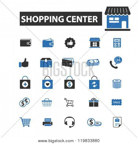 shopping center icons, shopping center logo, shopping center vector, shopping center flat illustration concept, shopping center infographics, shopping center symbols,