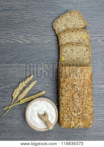 Wholemeal Bread on a Board