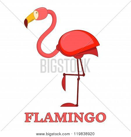 Rosy Flamingo Linear Icon