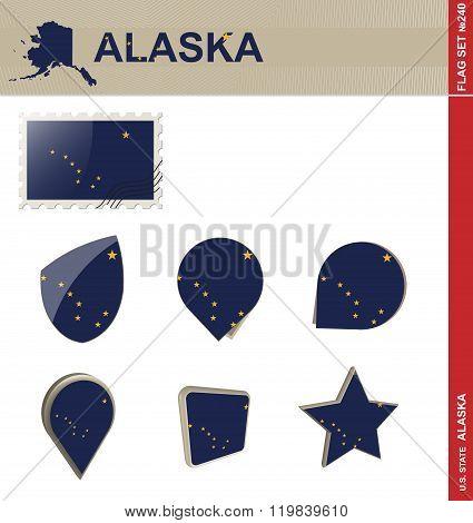 Alaska Flag Set, Flag Set #240